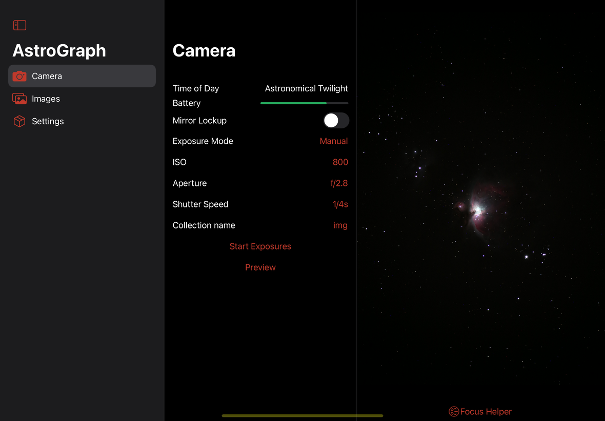 Screenshot of AstroGraph